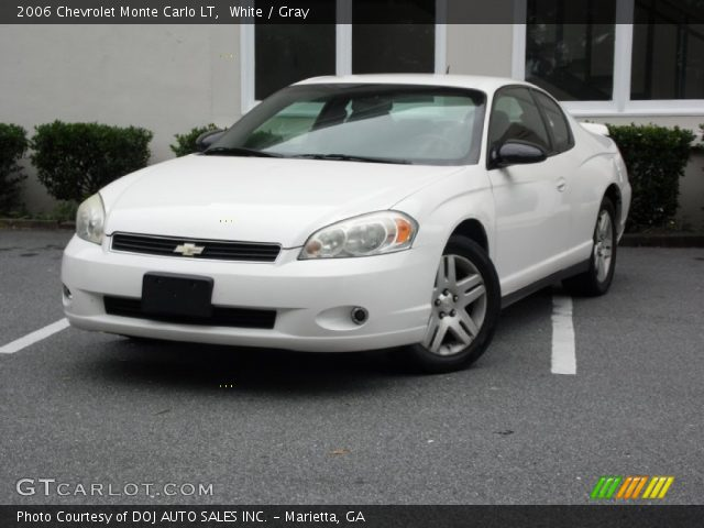 white 2006 chevrolet monte carlo lt gray interior. Black Bedroom Furniture Sets. Home Design Ideas