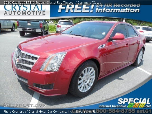 2010 Cadillac CTS 3.0 Sedan in Crystal Red Tintcoat