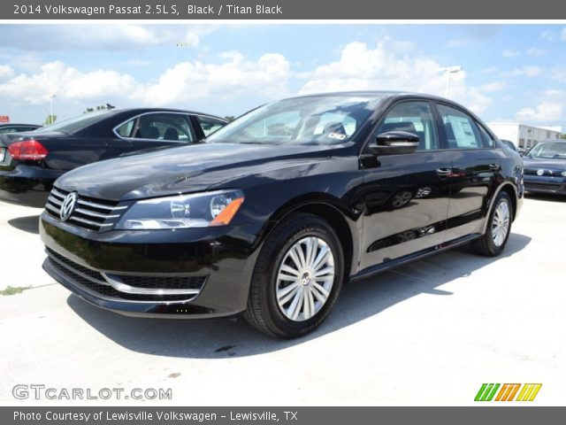 black 2014 volkswagen passat 2 5l s titan black. Black Bedroom Furniture Sets. Home Design Ideas