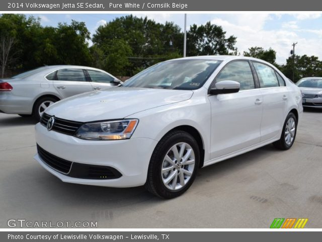 pure white 2014 volkswagen jetta se sedan cornsilk beige interior vehicle. Black Bedroom Furniture Sets. Home Design Ideas