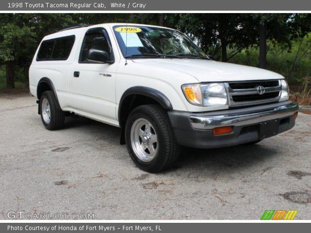 white 1998 toyota tacoma regular cab gray interior vehicle archive 84565168. Black Bedroom Furniture Sets. Home Design Ideas