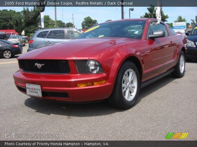 redfire metallic 2005 ford mustang v6 deluxe coupe. Black Bedroom Furniture Sets. Home Design Ideas
