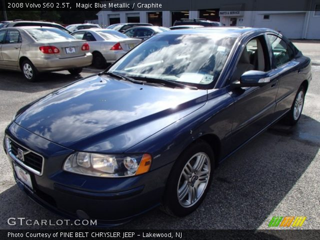 magic blue metallic 2008 volvo s60 2 5t graphite. Black Bedroom Furniture Sets. Home Design Ideas