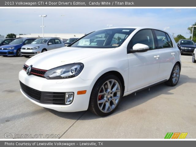 candy white 2013 volkswagen gti 4 door driver 39 s edition titan black interior. Black Bedroom Furniture Sets. Home Design Ideas