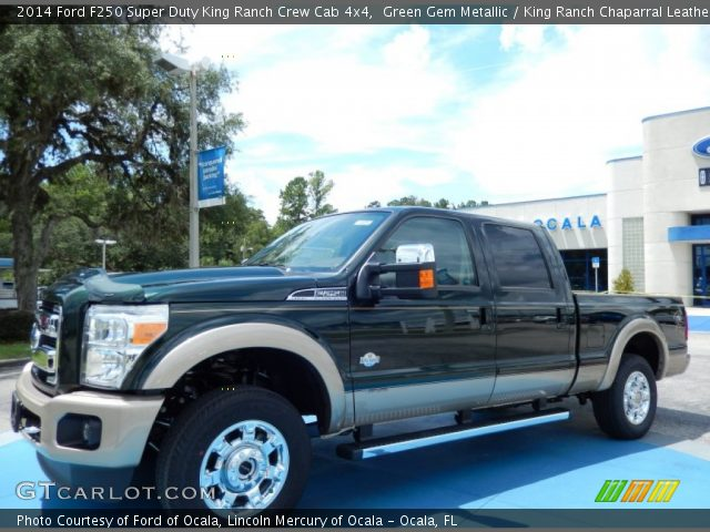Green Gem Metallic 2014 Ford F250 Super Duty King Ranch Crew Cab 4x4 King Ranch Chaparral