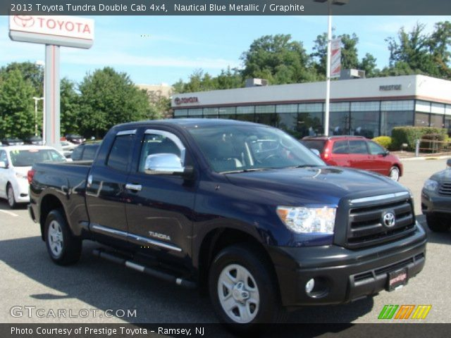 nautical blue metallic 2013 toyota tundra double cab 4x4 graphite interior. Black Bedroom Furniture Sets. Home Design Ideas