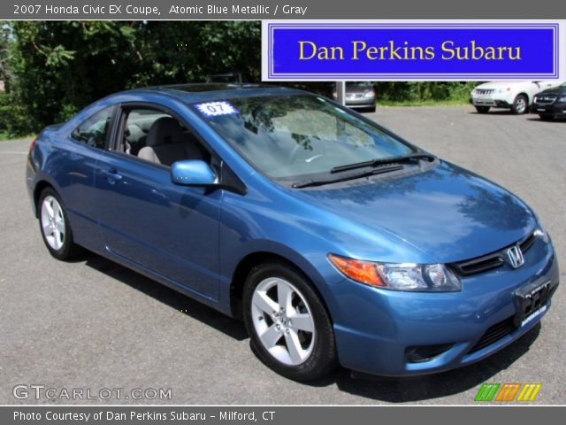 Atomic Blue Metallic - 2007 Honda Civic EX Coupe - Gray ...