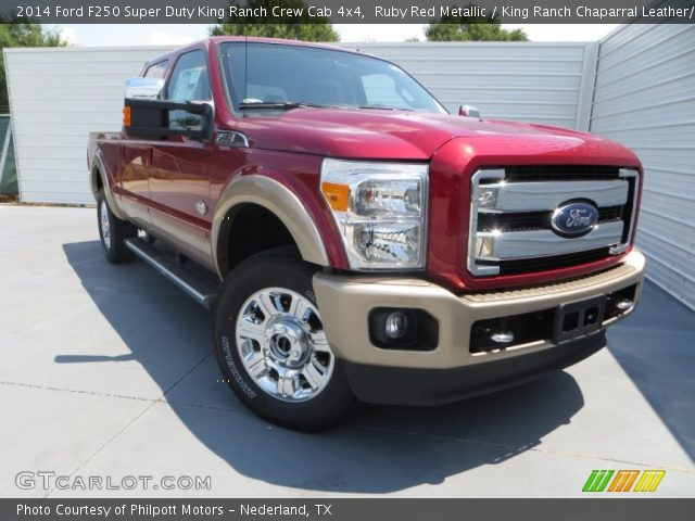 Ruby Red Metallic 2014 Ford F250 Super Duty King Ranch Crew Cab 4x4 King Ranch Chaparral
