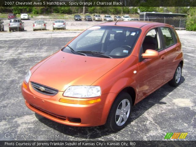 spicy orange 2007 chevrolet aveo 5 hatchback charcoal. Black Bedroom Furniture Sets. Home Design Ideas
