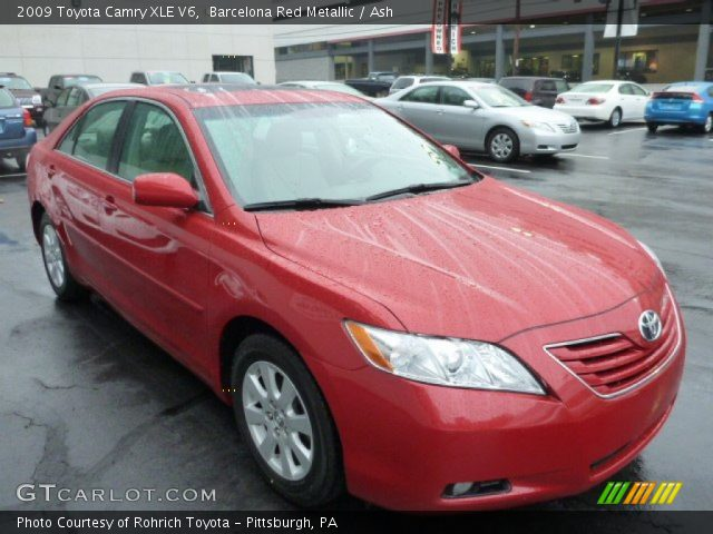 barcelona red metallic 2009 toyota camry xle v6 ash interior vehicle. Black Bedroom Furniture Sets. Home Design Ideas