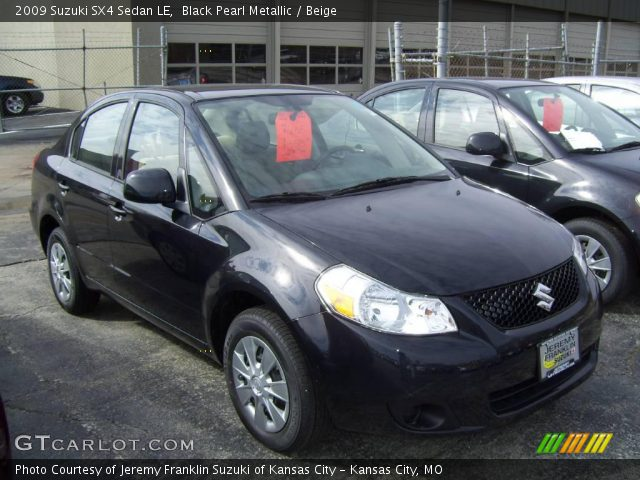 2009 Suzuki SX4 Sedan LE in Black Pearl Metallic