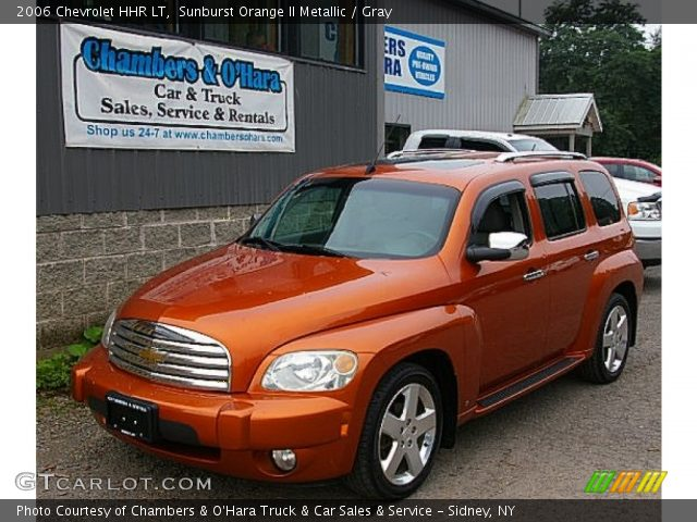 Sunburst Orange Ii Metallic 2006 Chevrolet Hhr Lt Gray