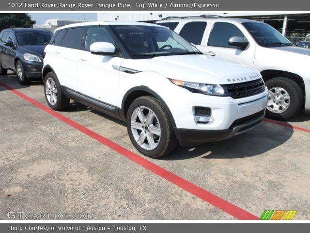 Fuji White 2012 Land Rover Range Rover Evoque Pure Almond Espresso Interior