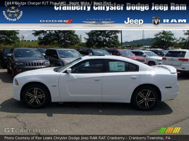 bright white 2014 dodge charger r t plus awd black red interior vehicle. Black Bedroom Furniture Sets. Home Design Ideas
