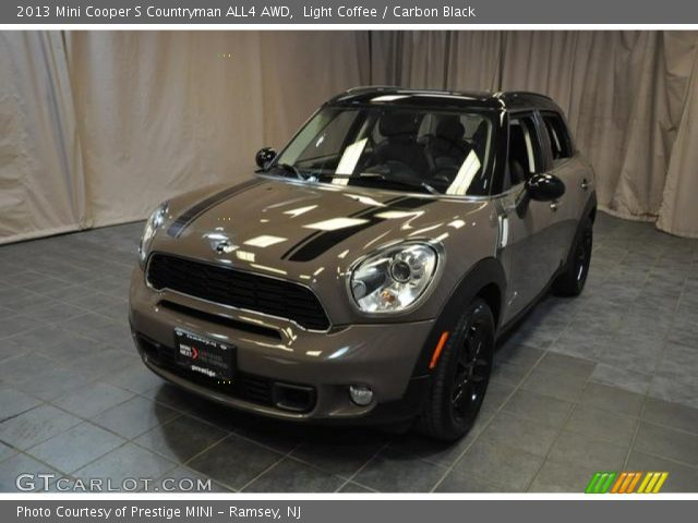 light coffee 2013 mini cooper s countryman all4 awd carbon black interior. Black Bedroom Furniture Sets. Home Design Ideas