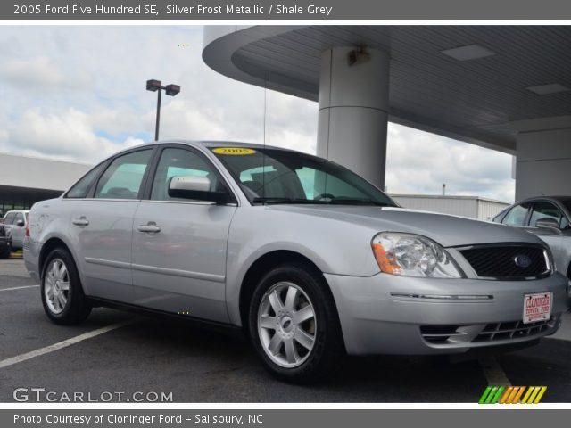 silver frost metallic 2005 ford five hundred se shale grey interior vehicle. Black Bedroom Furniture Sets. Home Design Ideas