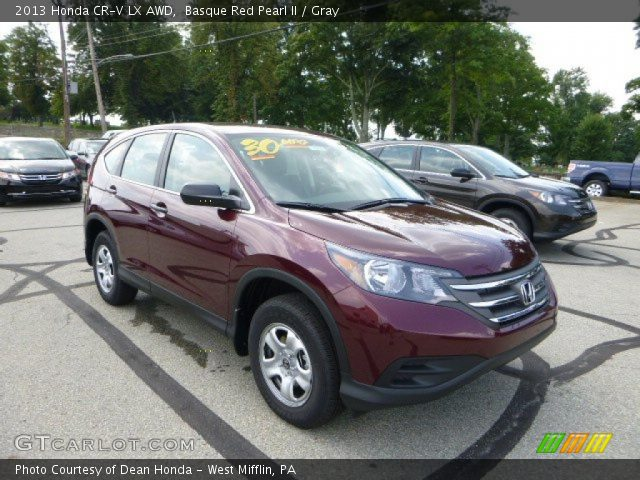 basque red pearl ii 2013 honda cr v lx awd gray interior vehicle archive. Black Bedroom Furniture Sets. Home Design Ideas