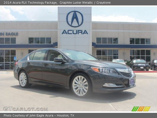graphite luster metallic 2014 acura rlx technology package graystone interior. Black Bedroom Furniture Sets. Home Design Ideas