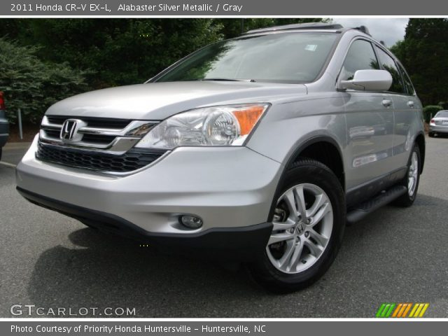 alabaster silver metallic 2011 honda cr v ex l gray interior vehicle. Black Bedroom Furniture Sets. Home Design Ideas