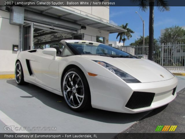2007 Lamborghini Gallardo Spyder in Balloon White