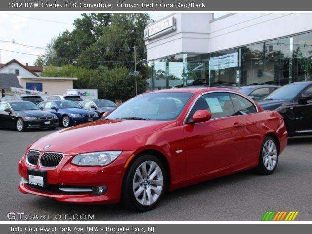 crimson red 2012 bmw 3 series 328i convertible coral red black interior. Black Bedroom Furniture Sets. Home Design Ideas