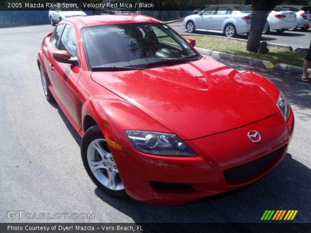 velocity red mica 2005 mazda rx 8 sport black interior vehicle archive. Black Bedroom Furniture Sets. Home Design Ideas