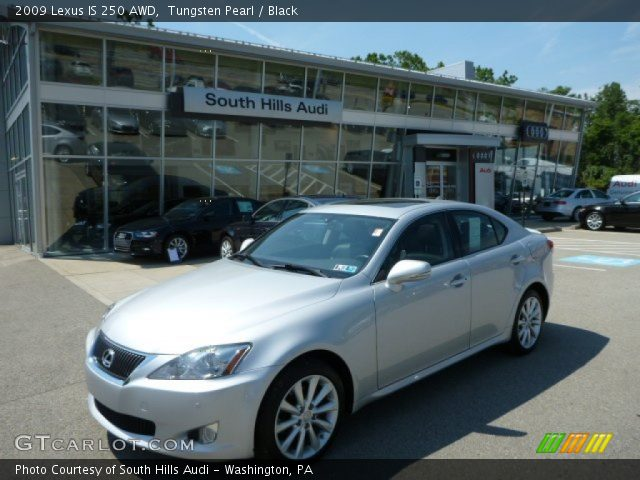 tungsten pearl 2009 lexus is 250 awd black interior vehicle archive 84859700. Black Bedroom Furniture Sets. Home Design Ideas