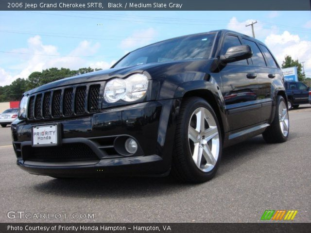 black 2006 jeep grand cherokee srt8 medium slate gray interior vehicle. Black Bedroom Furniture Sets. Home Design Ideas