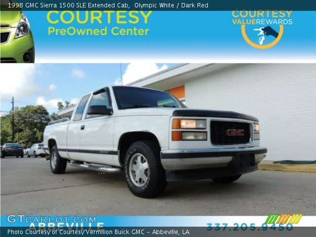 olympic white 1998 gmc sierra 1500 sle extended cab. Black Bedroom Furniture Sets. Home Design Ideas