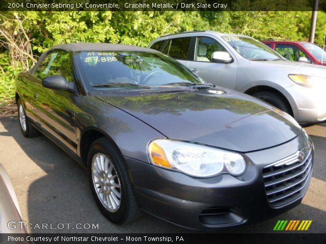 graphite metallic 2004 chrysler sebring lx convertible. Black Bedroom Furniture Sets. Home Design Ideas
