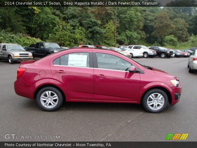 deep magenta metallic 2014 chevrolet sonic lt sedan. Black Bedroom Furniture Sets. Home Design Ideas