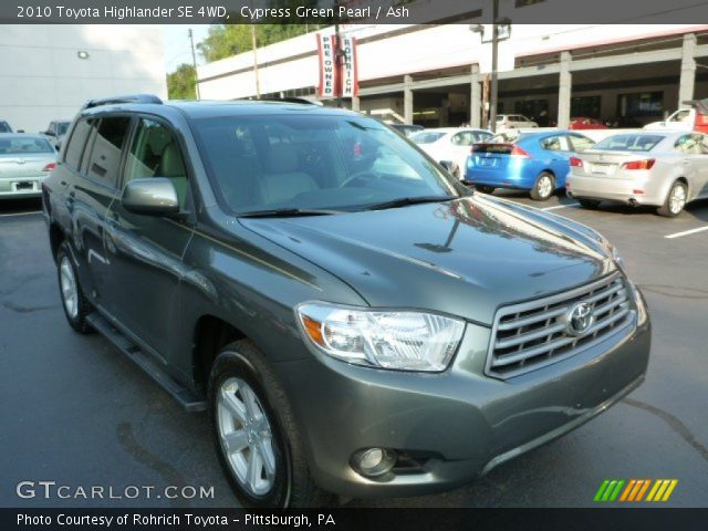 cypress green pearl 2010 toyota highlander se 4wd ash. Black Bedroom Furniture Sets. Home Design Ideas