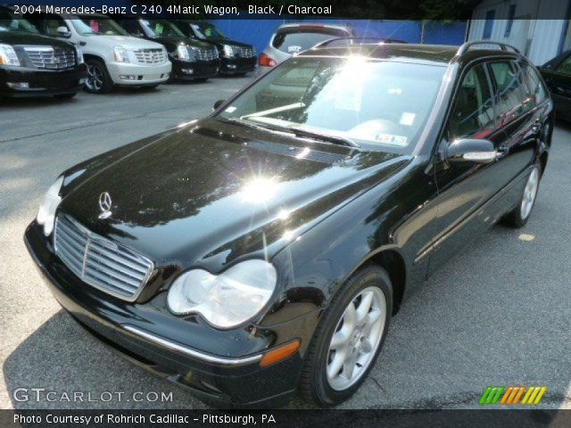 black 2004 mercedes benz c 240 4matic wagon charcoal interior vehicle. Black Bedroom Furniture Sets. Home Design Ideas