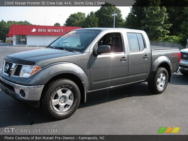 storm gray 2006 nissan frontier se crew cab 4x4 steel interior vehicle. Black Bedroom Furniture Sets. Home Design Ideas