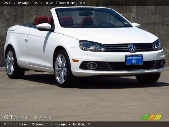 candy white 2014 volkswagen eos executive red interior