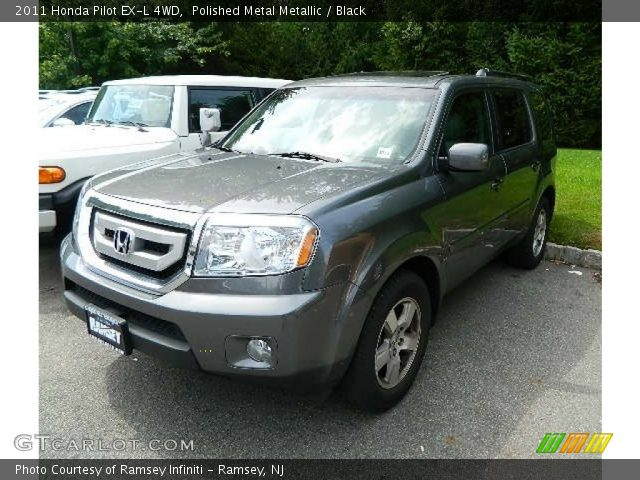 Polished Metal Metallic 2011 Honda Pilot Ex L 4wd