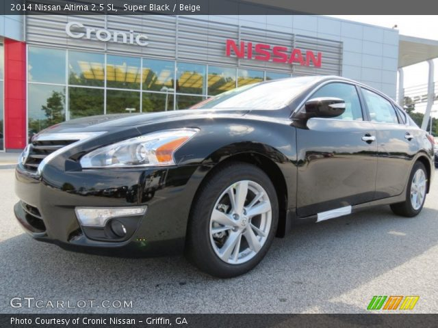 super black 2014 nissan altima 2 5 sl beige interior vehicle archive 84908044. Black Bedroom Furniture Sets. Home Design Ideas