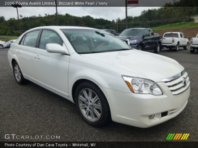 blizzard white pearl 2006 toyota avalon limited ivory interior vehicle. Black Bedroom Furniture Sets. Home Design Ideas