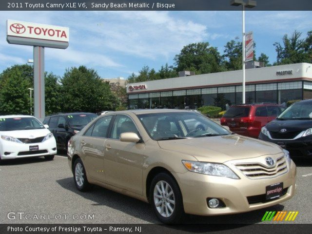 sandy beach metallic 2011 toyota camry xle v6 bisque. Black Bedroom Furniture Sets. Home Design Ideas