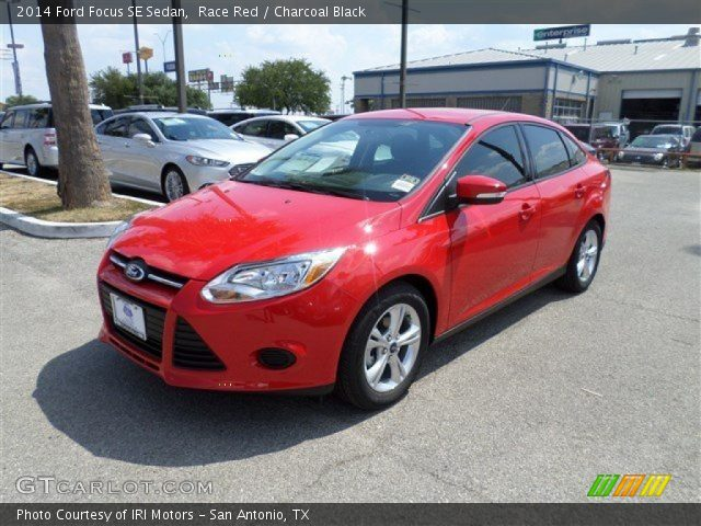 race red 2014 ford focus se sedan charcoal black
