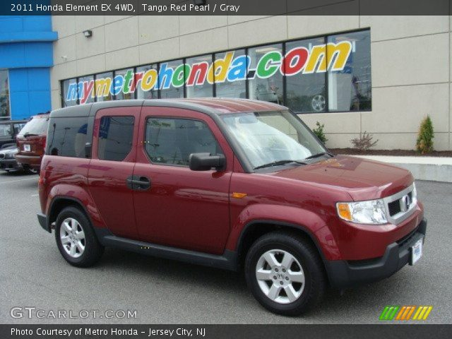 Tango Red Pearl 2011 Honda Element Ex 4wd Gray