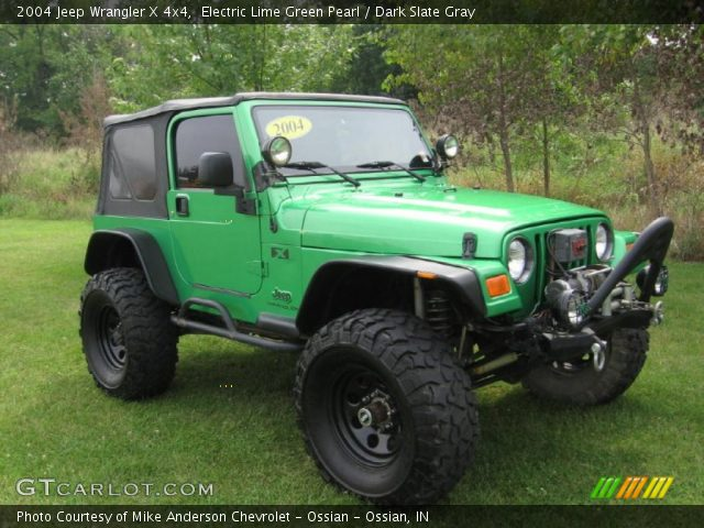 electric lime green pearl 2004 jeep wrangler x 4x4. Black Bedroom Furniture Sets. Home Design Ideas