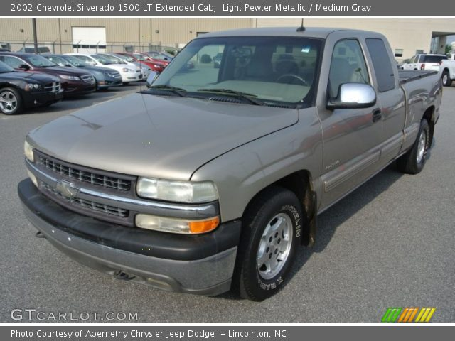 Light Pewter Metallic 2002 Chevrolet Silverado 1500 Lt Extended Cab Medium Gray Interior