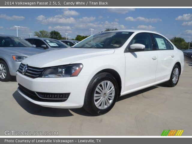 candy white 2014 volkswagen passat 2 5l s titan black. Black Bedroom Furniture Sets. Home Design Ideas
