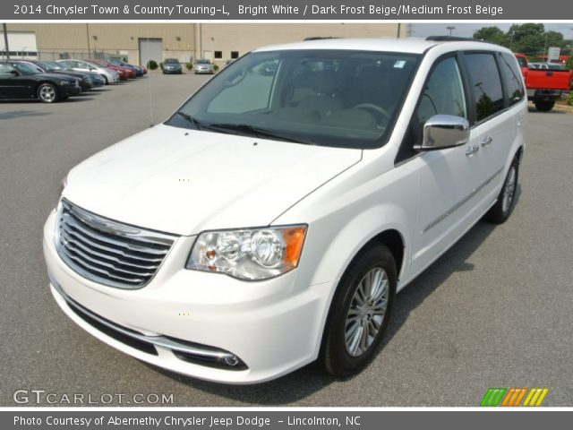 bright white 2014 chrysler town country touring l dark frost beige medium frost beige. Black Bedroom Furniture Sets. Home Design Ideas