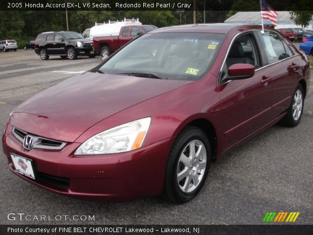 redondo red pearl 2005 honda accord ex l v6 sedan gray interior vehicle. Black Bedroom Furniture Sets. Home Design Ideas