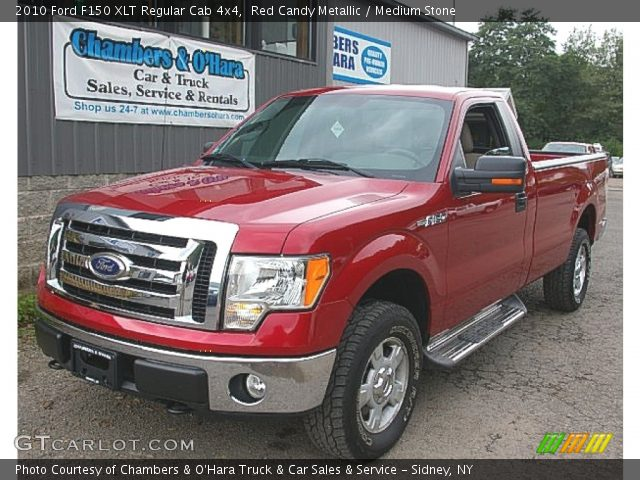 2010 Ford F150 XLT Regular Cab 4x4 in Red Candy Metallic