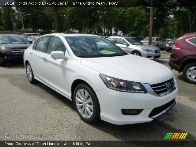 White orchid pearl 2014 honda accord ex l v6 sedan for 2014 honda accord white