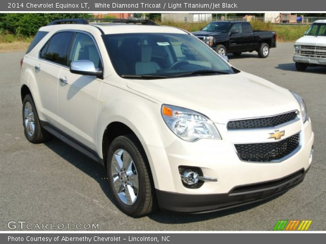 white diamond tricoat 2014 chevrolet equinox lt light titanium jet black interior gtcarlot. Black Bedroom Furniture Sets. Home Design Ideas
