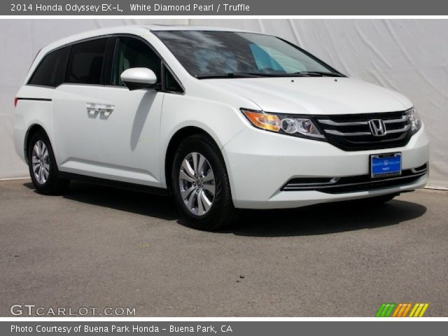 2014 Honda Odyssey EX-L in White Diamond Pearl